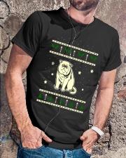 Christmas Exotic Shorthair Cat Premium Fit Mens Tee lifestyle-mens-crewneck-front-4
