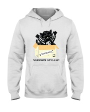 CAT IS ALIVE Hooded Sweatshirt tile