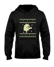 Christmas LaPerm Cat Hooded Sweatshirt thumbnail