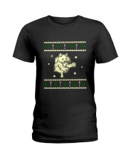 Christmas LaPerm Cat Ladies T-Shirt thumbnail