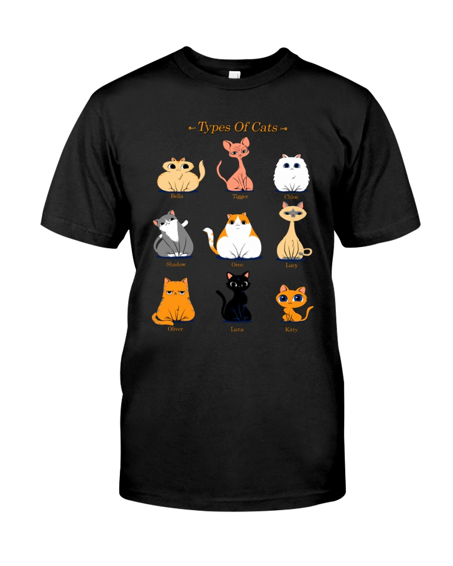 TYPES OF CATS Premium Fit Mens Tee