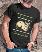 Christmas Devon Rex Cat Premium Fit Mens Tee lifestyle-mens-crewneck-front-4