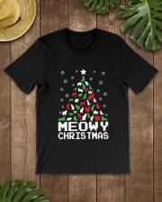 CHRISTMAS CAT Premium Fit Mens Tee lifestyle-mens-crewneck-front-18