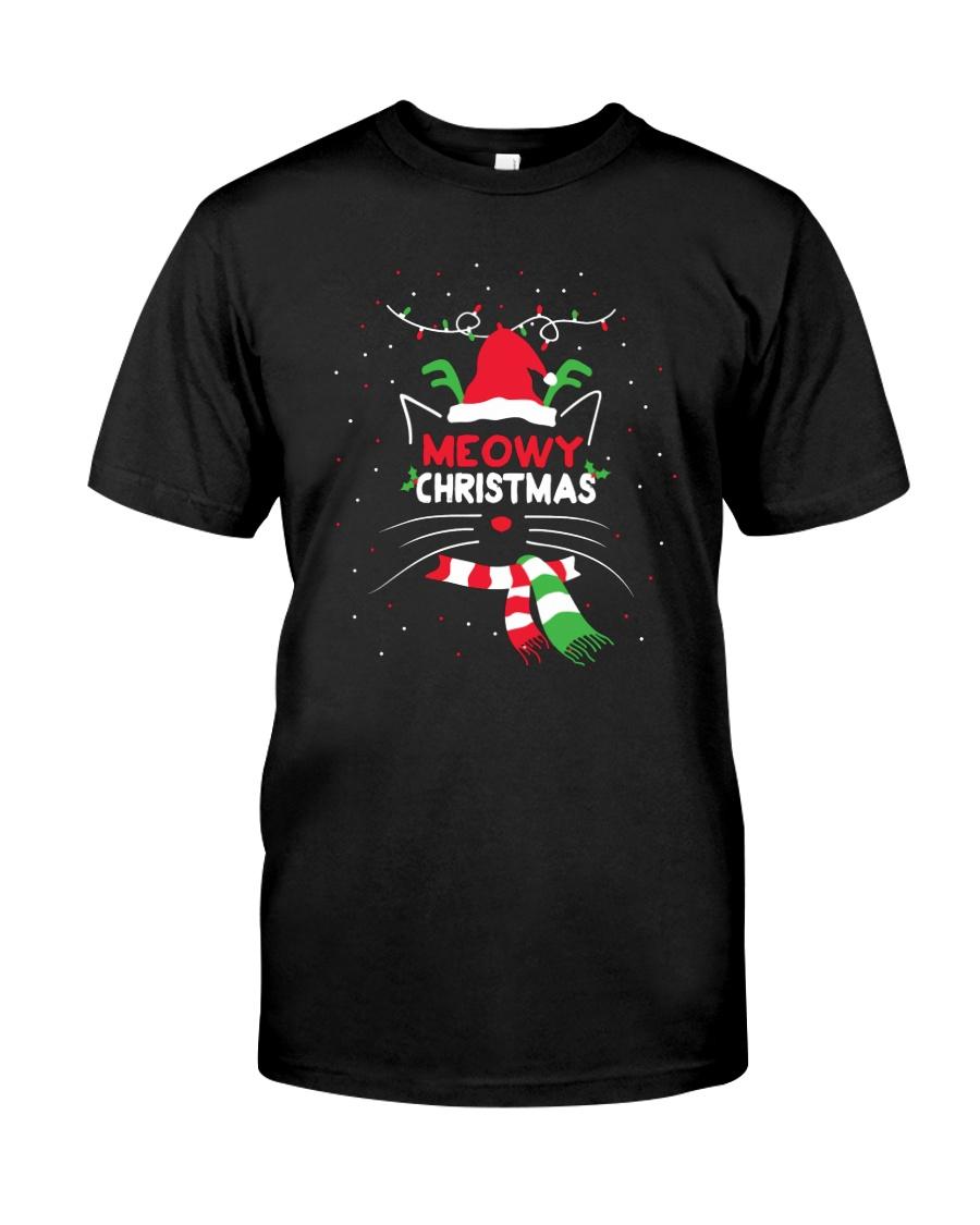 MEOWY CHRISTMAS Premium Fit Mens Tee
