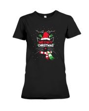 MEOWY CHRISTMAS Premium Fit Ladies Tee thumbnail