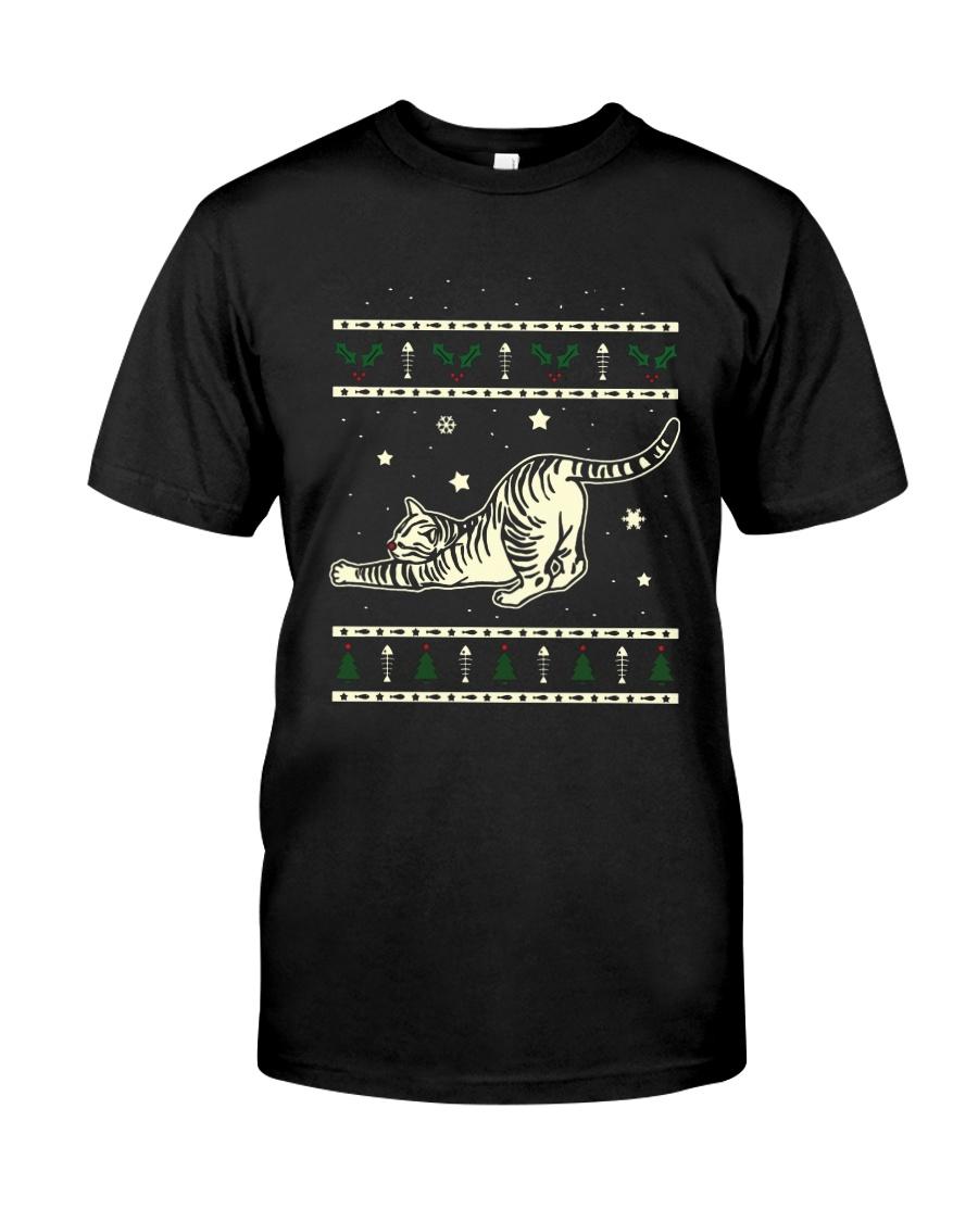Christmas Tabby Cat Premium Fit Mens Tee
