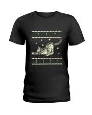 Christmas Tabby Cat Ladies T-Shirt thumbnail
