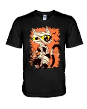 HALLOWEEN CAT V-Neck T-Shirt thumbnail