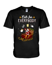 CATS FOR EVERYBODY V-Neck T-Shirt thumbnail