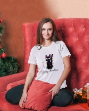 CAT MERRY CHRISTMAS Premium Fit Ladies Tee lifestyle-holiday-womenscrewneck-front-2