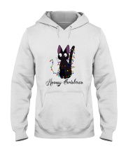 CAT MERRY CHRISTMAS Hooded Sweatshirt thumbnail