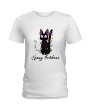 CAT MERRY CHRISTMAS Ladies T-Shirt thumbnail