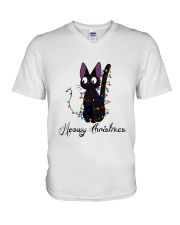 CAT MERRY CHRISTMAS V-Neck T-Shirt thumbnail
