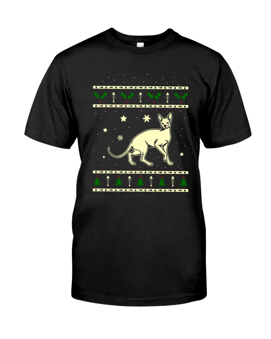 Christmas Don Sphynx Cat Premium Fit Mens Tee