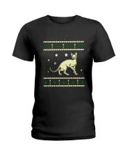 Christmas Don Sphynx Cat Ladies T-Shirt thumbnail