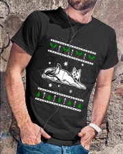 Christmas Calico Cat Premium Fit Mens Tee lifestyle-mens-crewneck-front-4