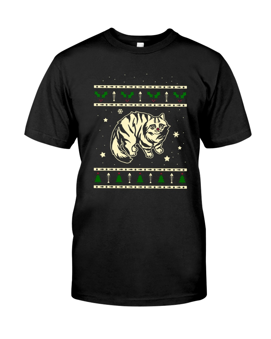 Christmas Siberian Cat Premium Fit Mens Tee