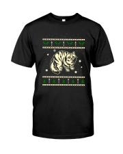 Christmas Siberian Cat Premium Fit Mens Tee front