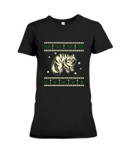 Christmas Siberian Cat Premium Fit Ladies Tee thumbnail