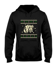 Christmas Siberian Cat Hooded Sweatshirt thumbnail