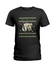 Christmas Siberian Cat Ladies T-Shirt thumbnail