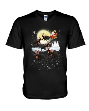 CAT CHRISTMAS V-Neck T-Shirt thumbnail