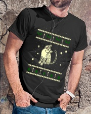 Christmas Egyptian Mau Cat Premium Fit Mens Tee lifestyle-mens-crewneck-front-4