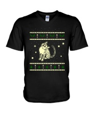 Christmas Egyptian Mau Cat V-Neck T-Shirt thumbnail