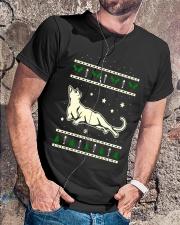 Christmas Russian Blue Cat Premium Fit Mens Tee lifestyle-mens-crewneck-front-4