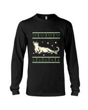 Christmas Russian Blue Cat Long Sleeve Tee thumbnail