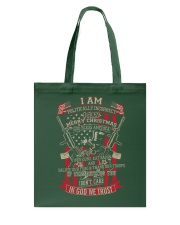 I am politically incorrect Tote Bag back