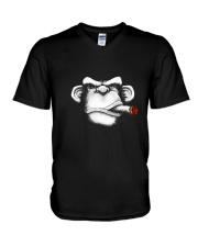 Cigar Monkey V-Neck T-Shirt thumbnail