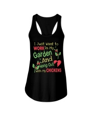 Garden and Chickens Lovers Ladies Flowy Tank thumbnail