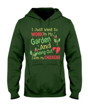 Garden and Chickens Lovers Hooded Sweatshirt thumbnail