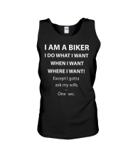 ASK MY BIKER WIFE Unisex Tank tile