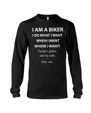 ASK MY BIKER WIFE Long Sleeve Tee tile