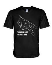 BIKER CODE V-Neck T-Shirt thumbnail