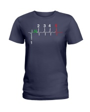 1 DOWN 4 UP Ladies T-Shirt thumbnail