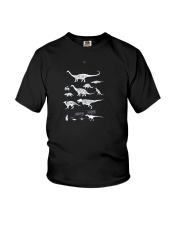 Types Of Dinosaurs Hoodie Youth T-Shirt front