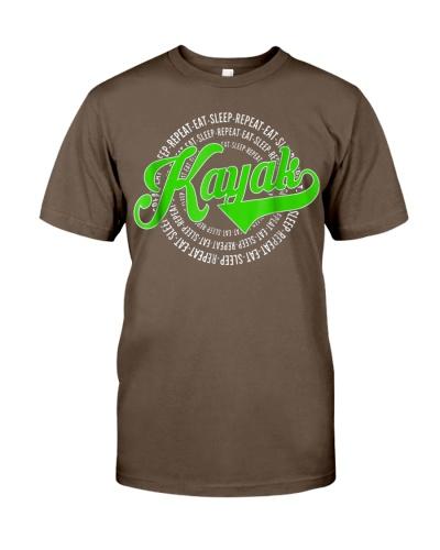 Eat Sleep Repeat Kayak Vintage Retro Style Shirt