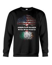 American Raised with Irish Roots Ireland  Crewneck Sweatshirt thumbnail