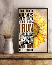 I run to find peace with myself PROMO 11x17 Poster lifestyle-poster-3