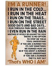 I am a runner poster female 11x17 Poster front