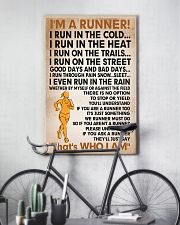 I am a runner poster female 11x17 Poster lifestyle-poster-7