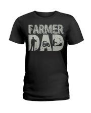 Mens Farmer Dad Shirt Farm Farming Father's  Ladies T-Shirt thumbnail