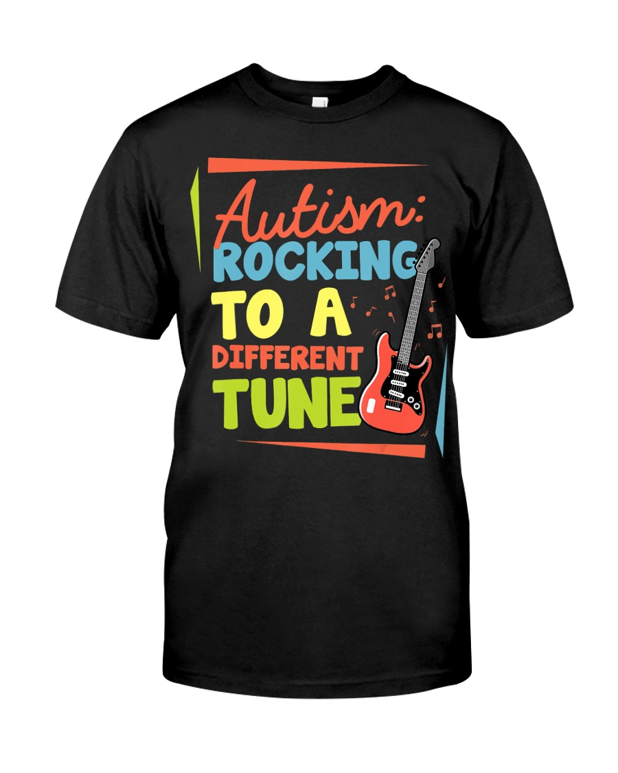 Autism Rocking To a Different Tune Guitar  Classic T-Shirt