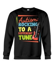 Autism Rocking To a Different Tune Guitar  Crewneck Sweatshirt thumbnail
