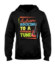 Autism Rocking To a Different Tune Guitar  Hooded Sweatshirt thumbnail