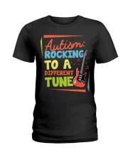 Autism Rocking To a Different Tune Guitar  Ladies T-Shirt thumbnail