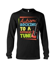 Autism Rocking To a Different Tune Guitar  Long Sleeve Tee thumbnail